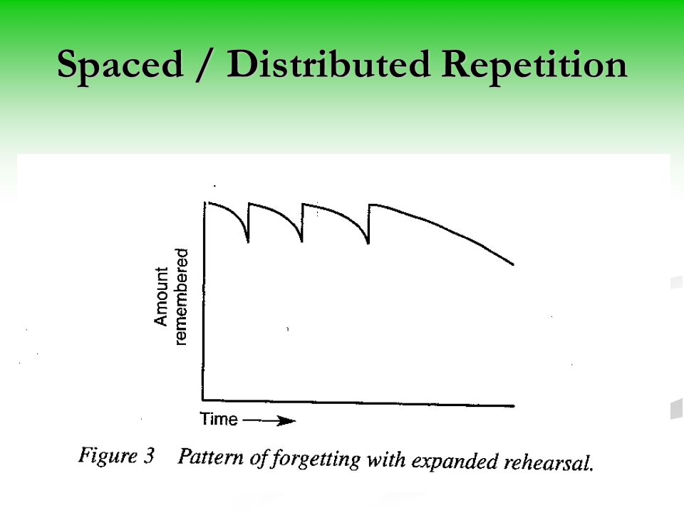 Spaced / Distributed Repetition