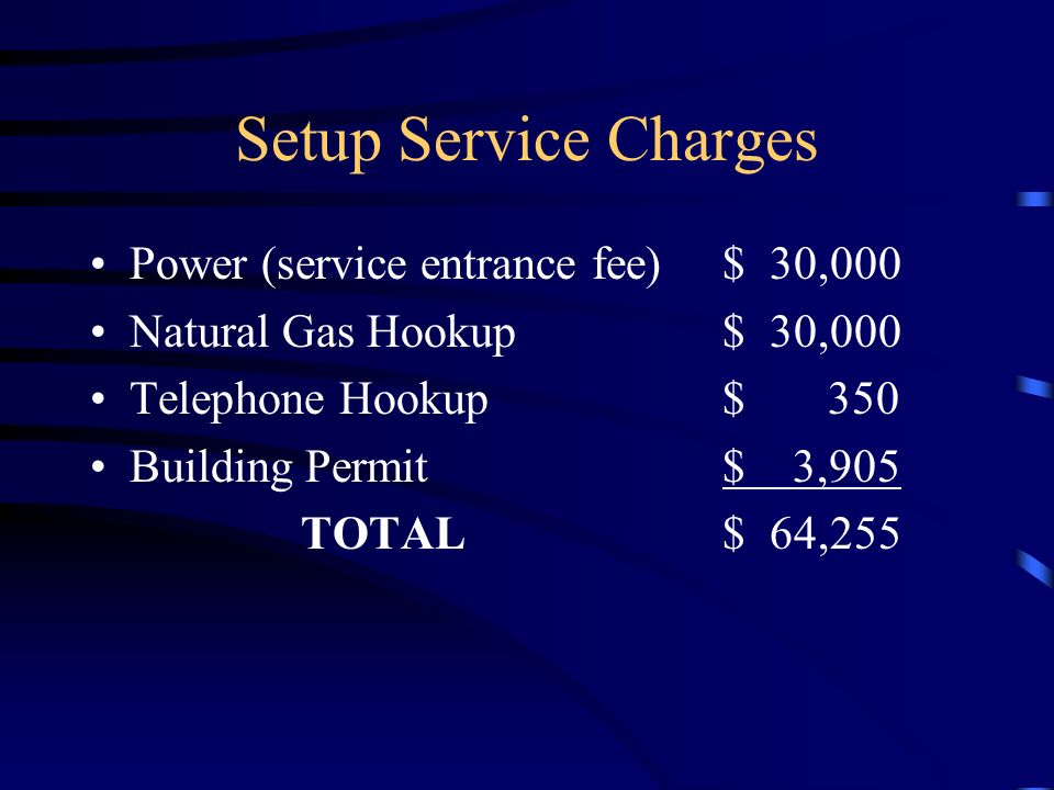 telephone hookup charges