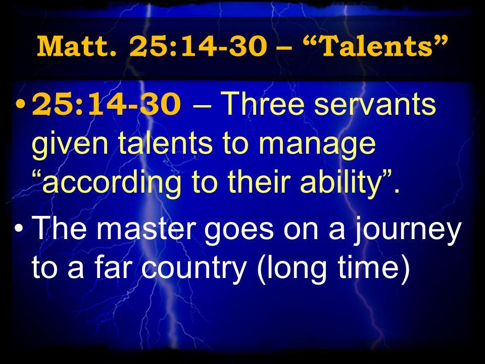 three servants given talents