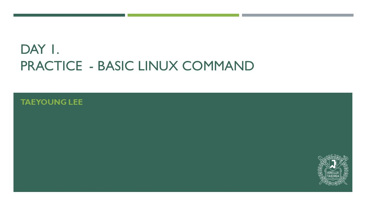 DAY 1. PRACTICE- BASIC LINUX COMMAND TAEYOUNG LEE