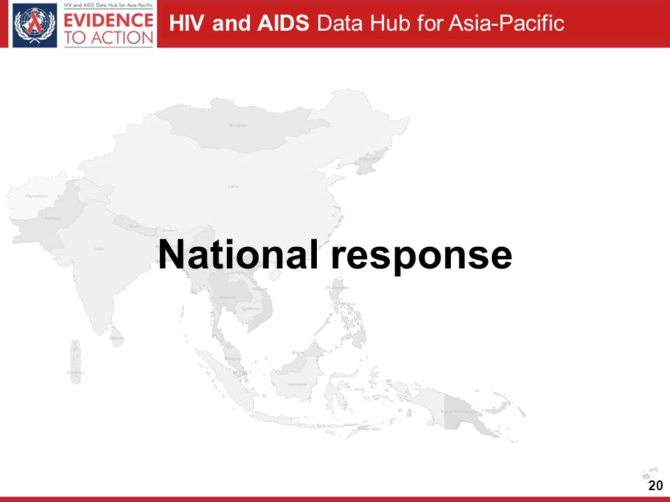 HIV and AIDS Data Hub for Asia-Pacific National response 20