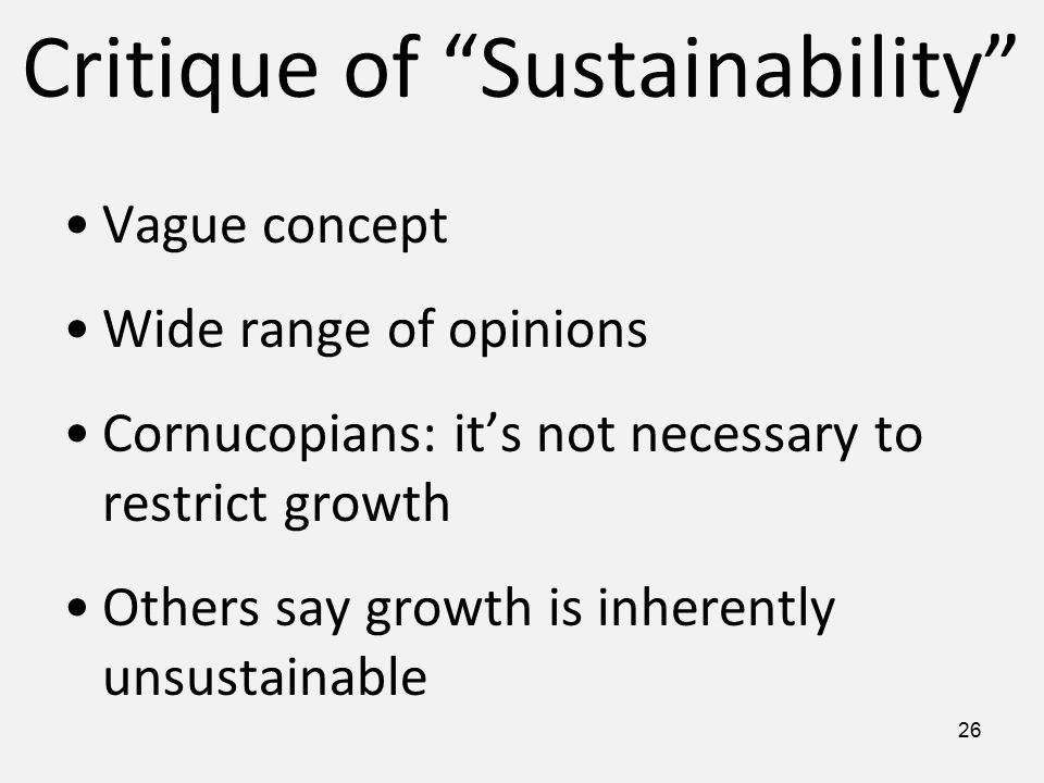 Image result for critique of sustainability