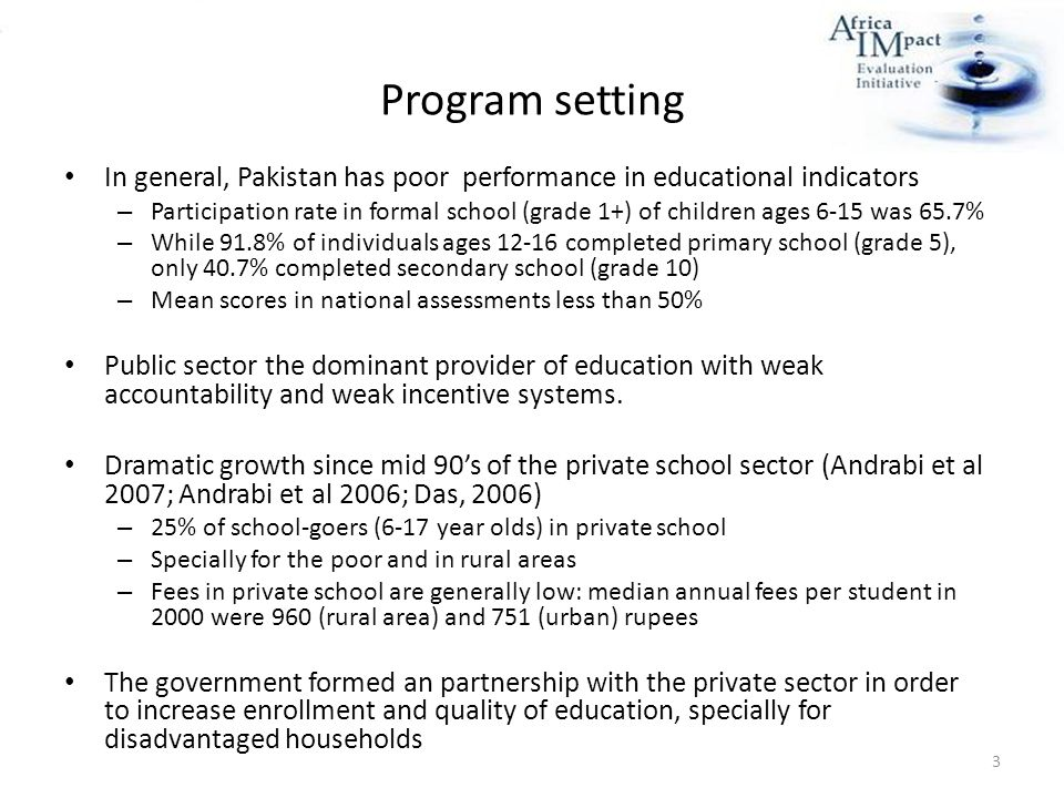 private education in pakistan