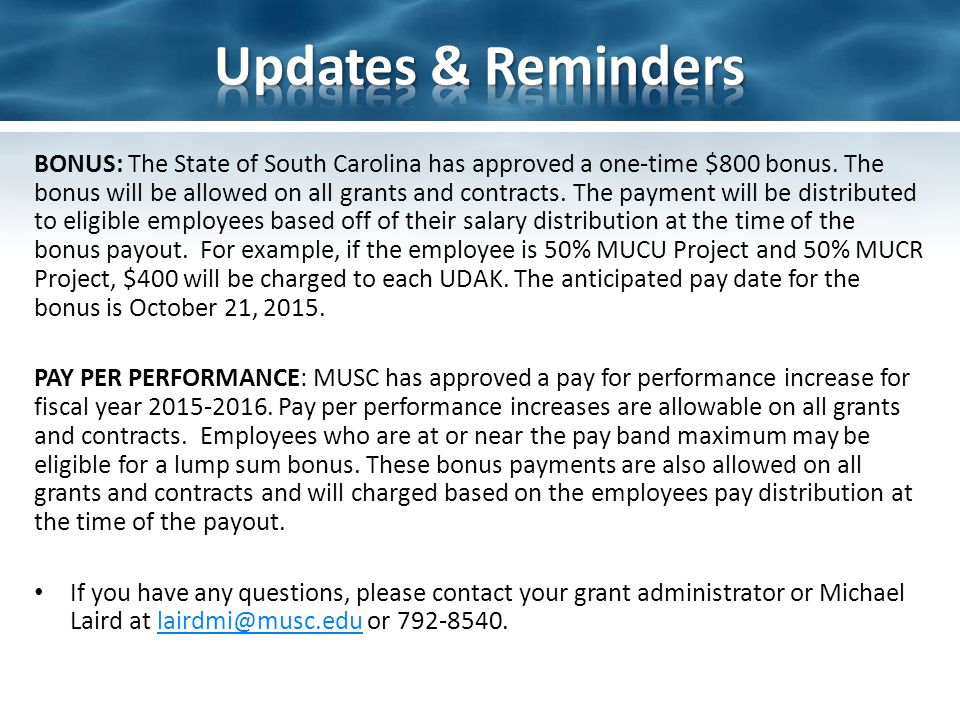 MUSC FRD & SBIR/STTR Programs Dual Use Research of Concern