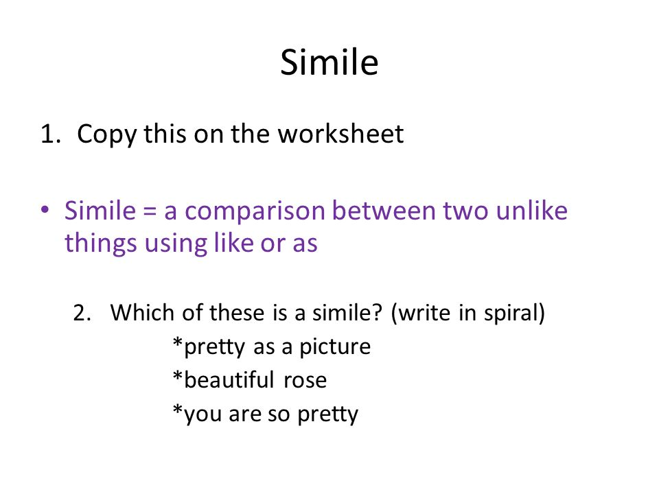 Urative Language Working With Vocabulary Words For February. Copy This On The Worksheet Simile A Parison Between Two Unlike Things. Worksheet. Literary Terms Worksheet At Clickcart.co