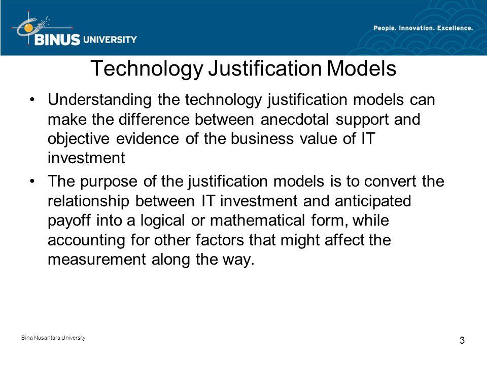 Technology Justification Models Pertemuan Matakuliah A0814 Investment Analysis Tahun Ppt Download