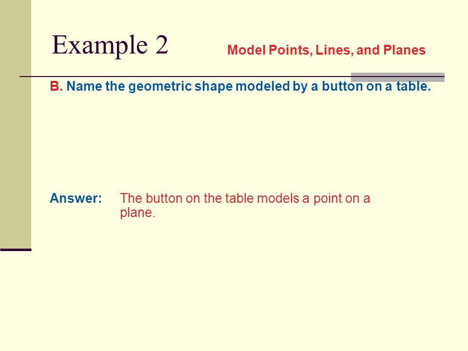 Chapter 1 1 Points, Lines, and Planes  Concept Name Lines
