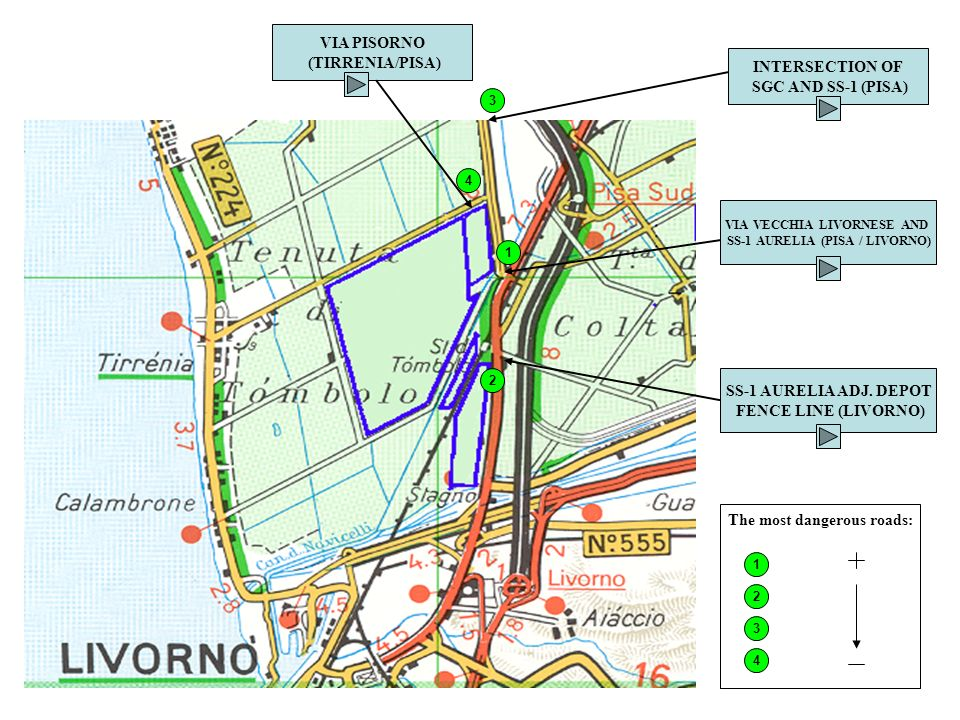 Dangerous Roads Around Camp Darby Livorno Military Community Ppt