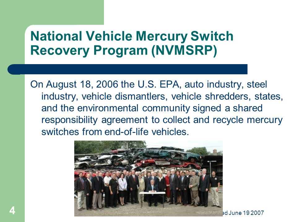 End Of Life Vehicle Solutions State Implementation Meetings Ppt