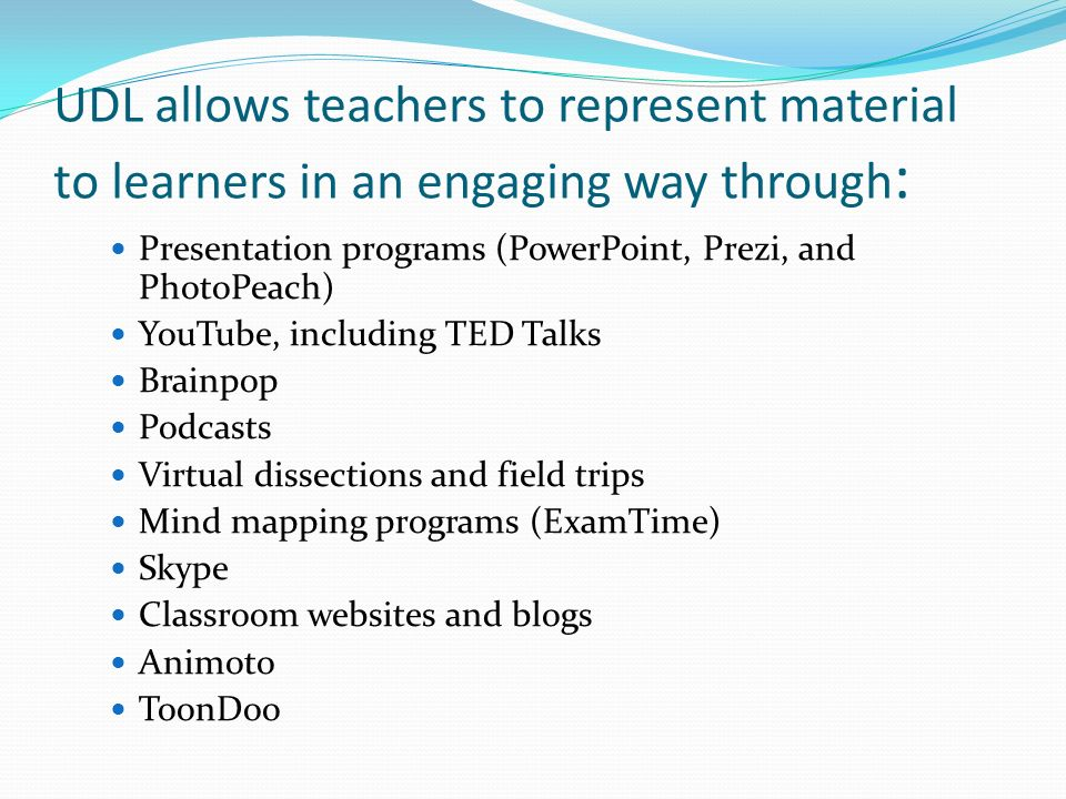 By Alyssa  Universal Design for Learning (UDL) UDL is a