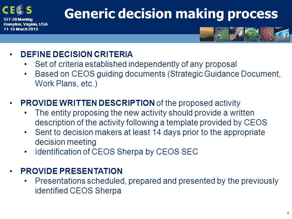 3 criteria for good decision making by a manager Order details description: you have just been promoted from front-line supervisor to be one of the firm's senior managers during your business education, you learned that the primary role of a manager is to make good decisions.