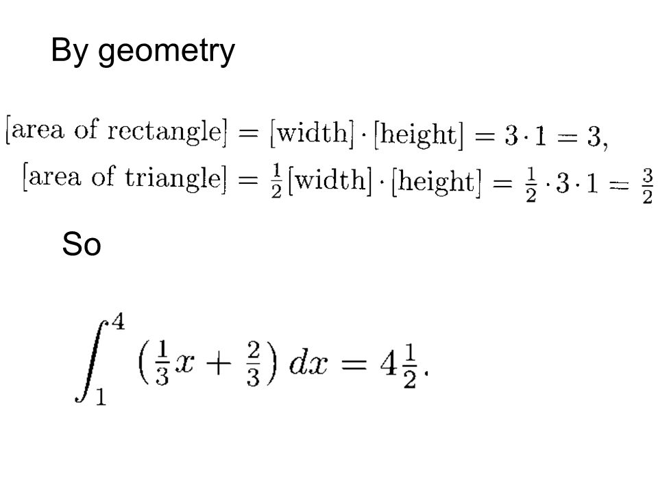 By geometry So