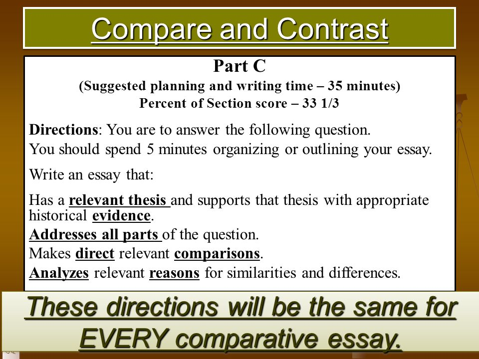 Ap world history compare and contrast sample essay apa psychology research paper guidelines