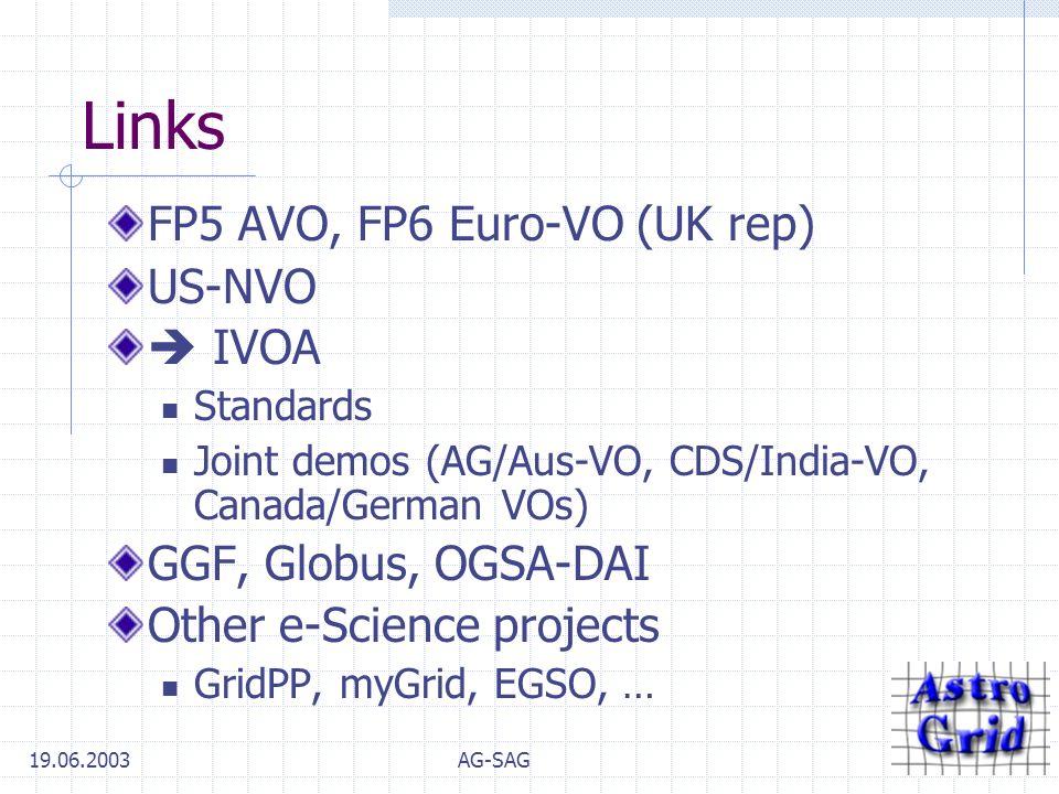 AstroGrid Overview AG-SAG Cambridge IoA 19 th June 2003 Tony Linde
