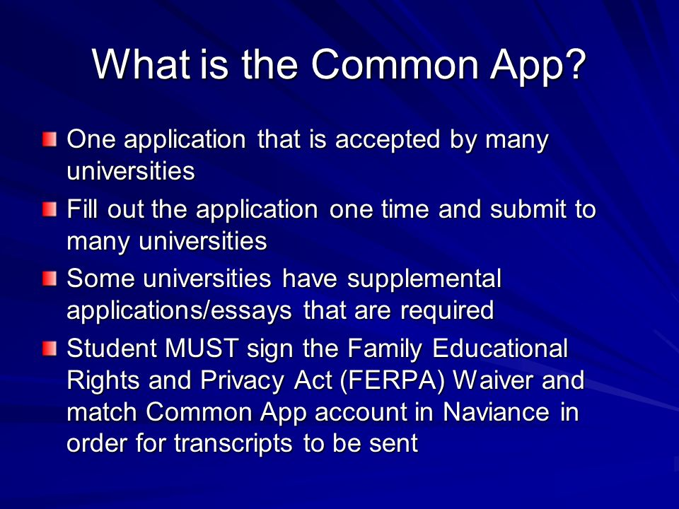 What is the Common App.