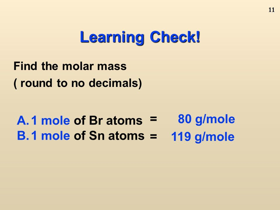 10 Other Names Related to Molar Mass Molecular Mass/Molecular Weight: If you have a single molecule, mass is measured in amu's instead of grams.