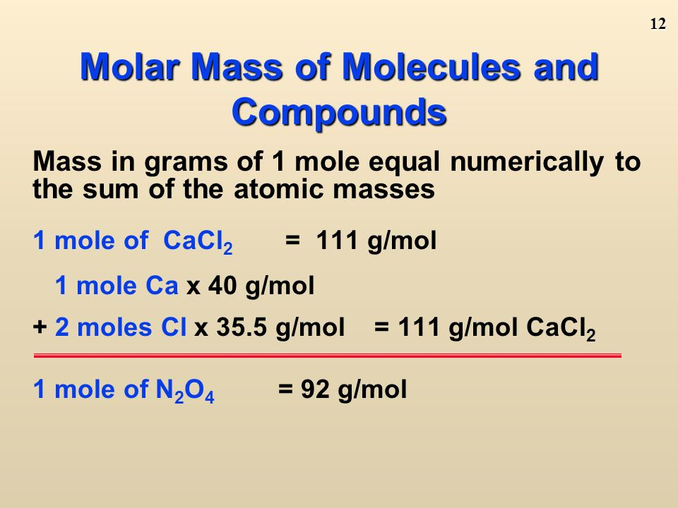 11 Find the molar mass ( round to no decimals) Learning Check.