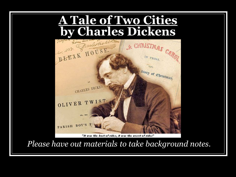 a tale of two cities setting