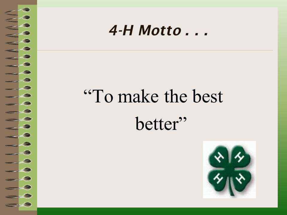 4h is 4u how where can i become a member what is 4 h 4 h is