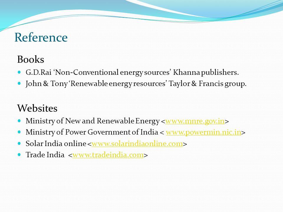 Gd Rai Non Conventional Energy Sources Book