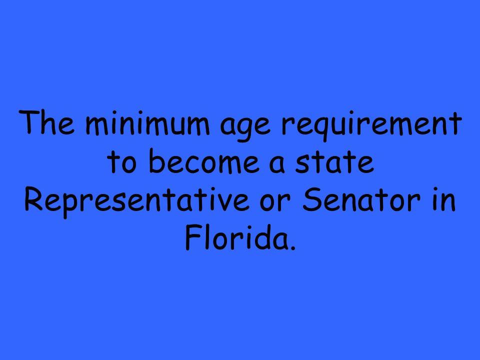 representative minimum age