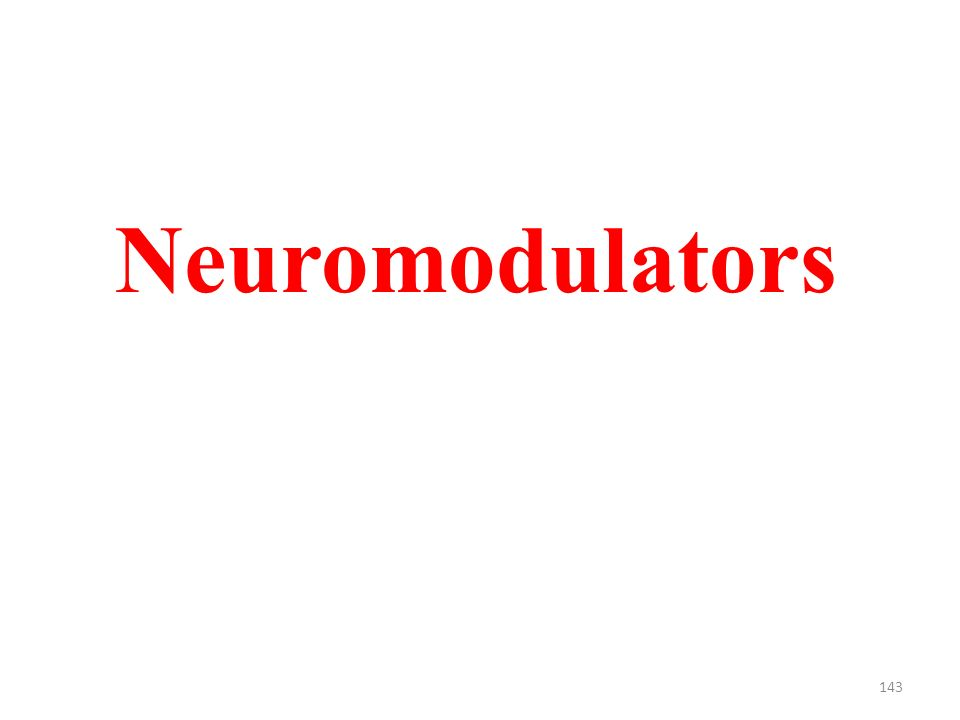 143 Neuromodulators
