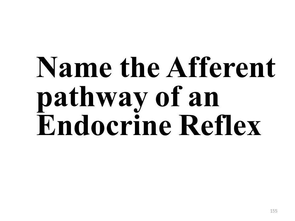 155 Name the Afferent pathway of an Endocrine Reflex