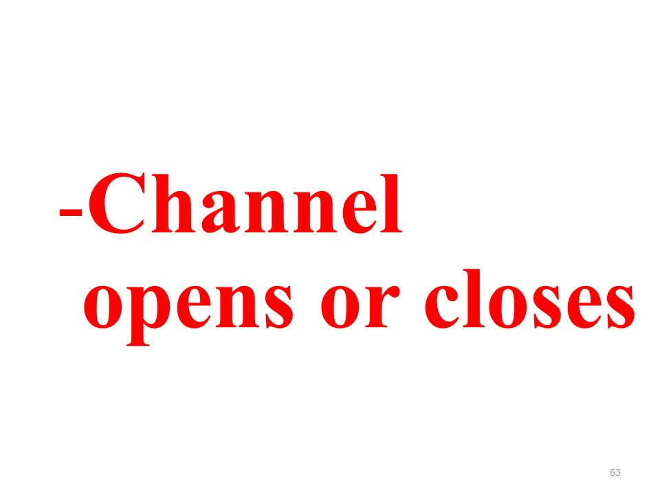 63 -Channel opens or closes