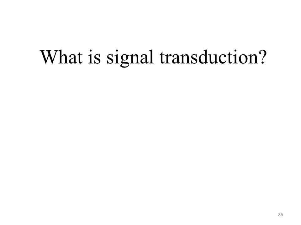 86 What is signal transduction