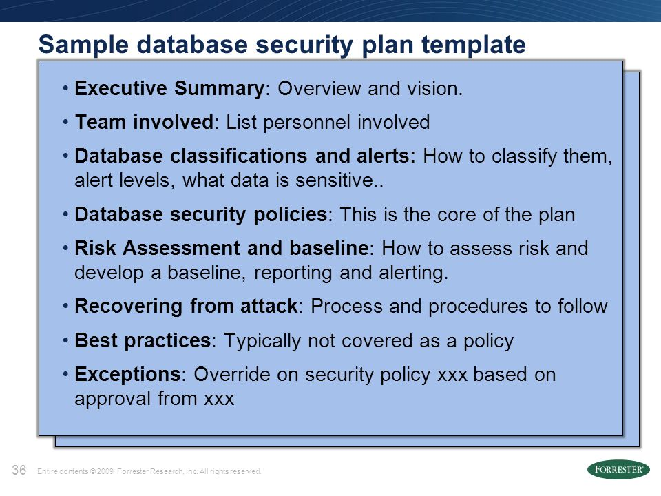Session S311342: Do you have a Database Security Plan? Roxana ...