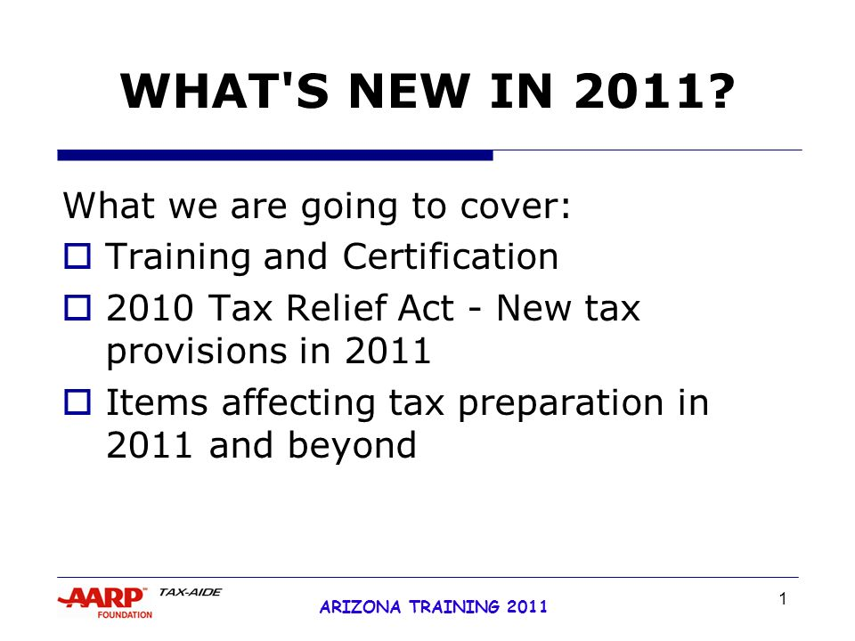 1 arizona training 2011 what's new in 2011? what we are going to ...