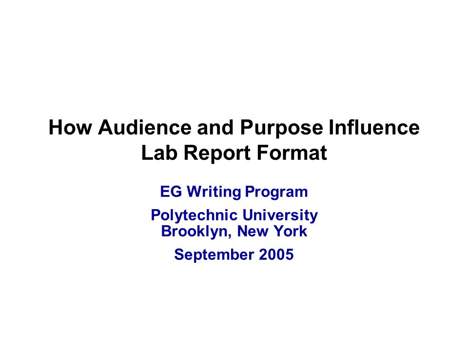 how to write a university lab report