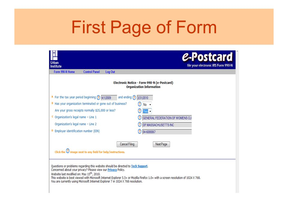 Welcome To Irs E 990 Filing Were Here To Help You Ppt Download