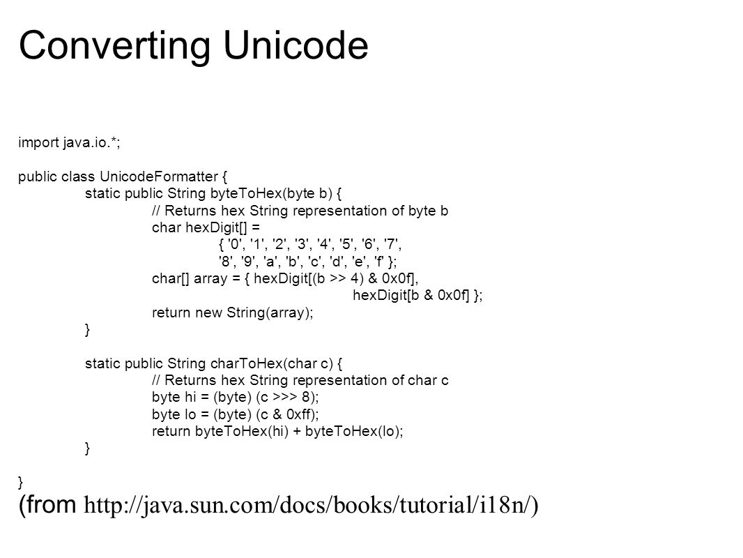 Java I18n and Unicode JaxJug lightning talk 4/15/ ppt download