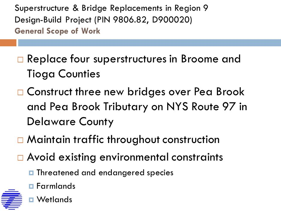 NEW YORK STATE DEPARTMENT OF TRANSPORTATION Superstructure And