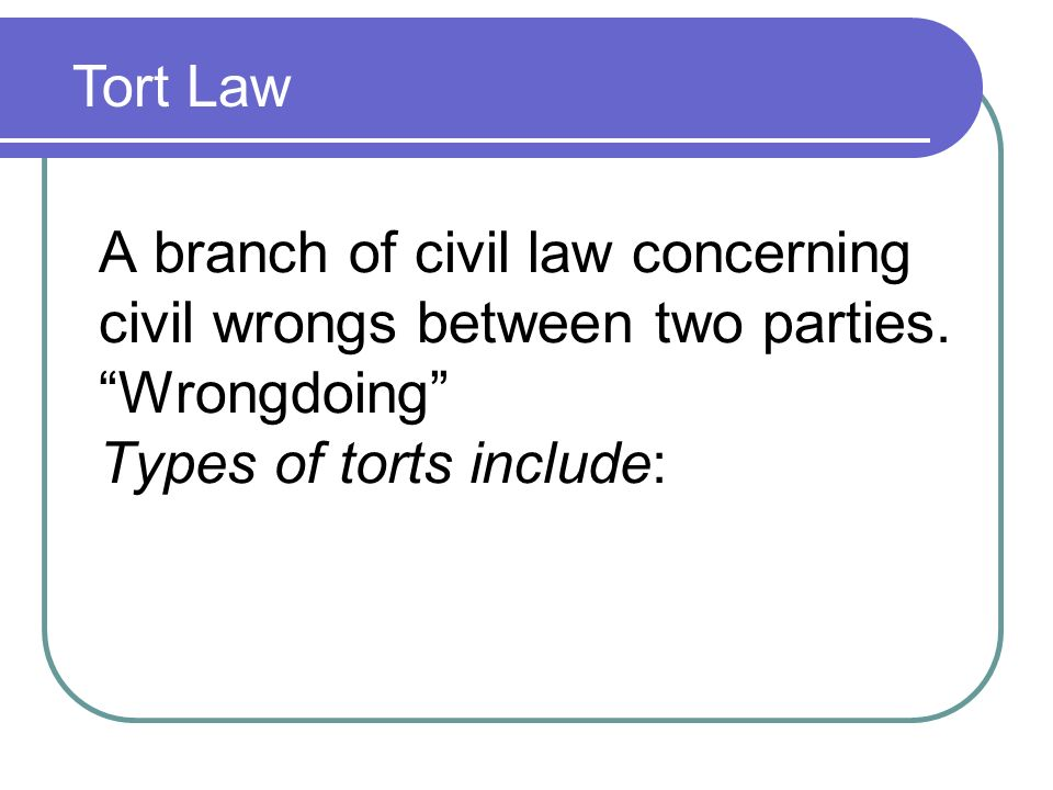 civil law deals with all of the following except quizlet