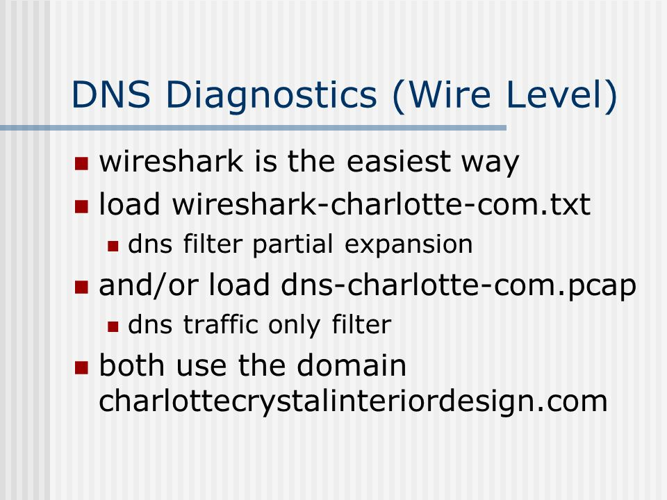 Module 8 DNS Tools & Diagnostics  Objectives Understand dig