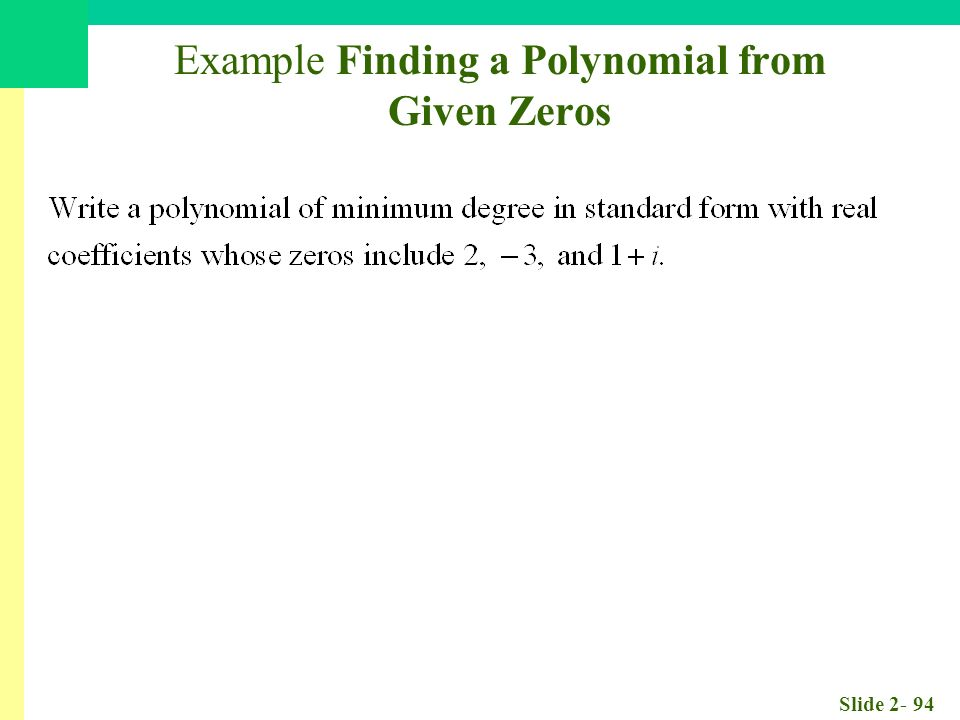 Slide Chapter 2 Polynomial Power And Rational Functions Ppt