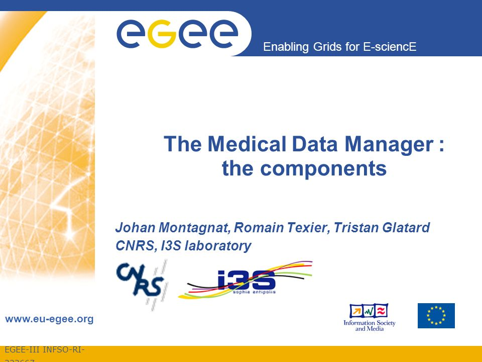 EGEE-III INFSO-RI Enabling Grids for E-sciencE The Medical