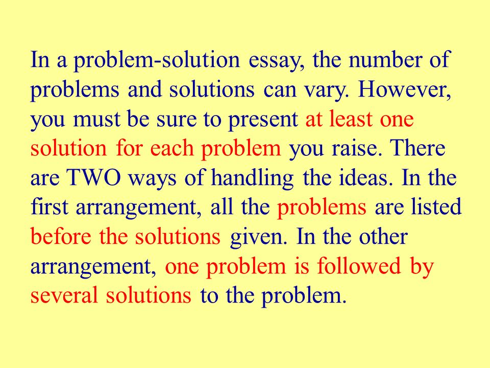 Thesis Essay Examples In A Problemsolution Essay The Number Of Problems And Solutions Can Vary Argumentative Essay Thesis Examples also Science Essay Topic Writing A Problemsolution Essay  Below Are Seven Essay Questions  An Essay On English Language