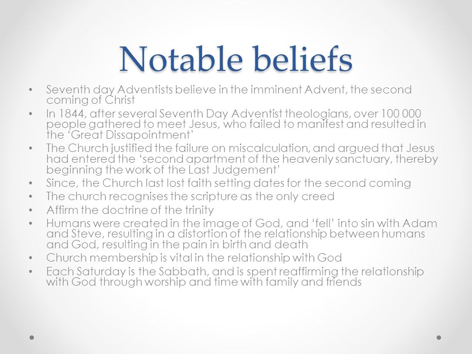 Seventh-Day Adventists Believe