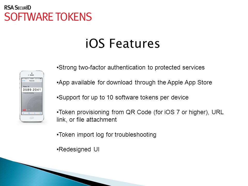 DAS/BEST ITSecurity Division  RSA SecurID Software Tokens: Make