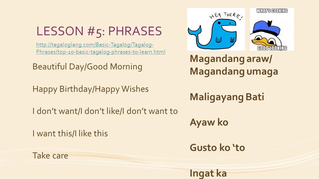 TAGALOG - THE FILIPINO LANGUAGE Languages Unit Topic Term