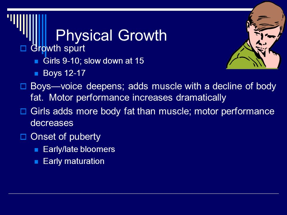 Human Development Adolescence 13 – 17 years  Physical Growth