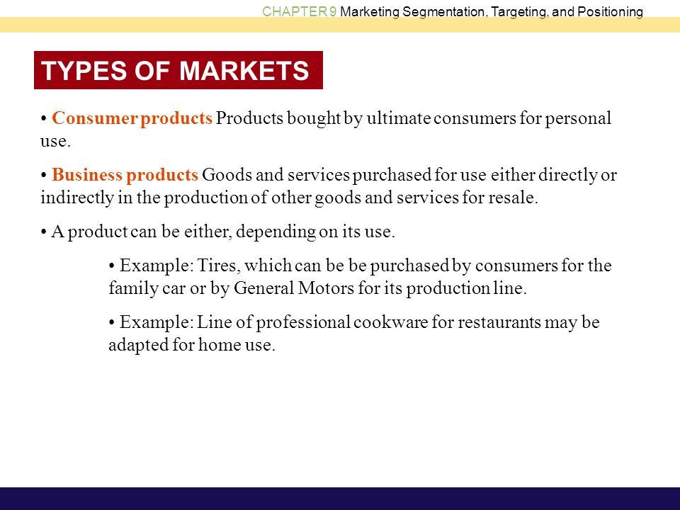different types of marketing segmentation