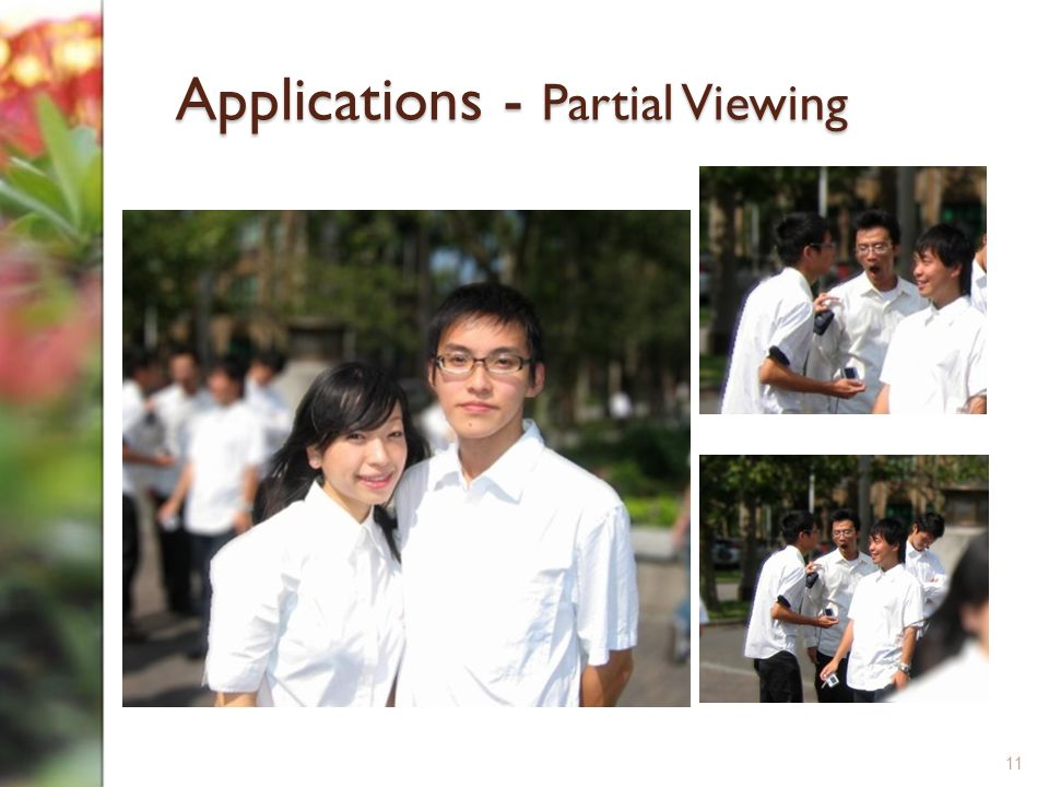Applications - Partial Viewing 11
