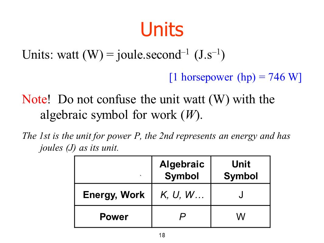 Work Power And Potential Energy Lecture 10 Pre Reading Kjf 101