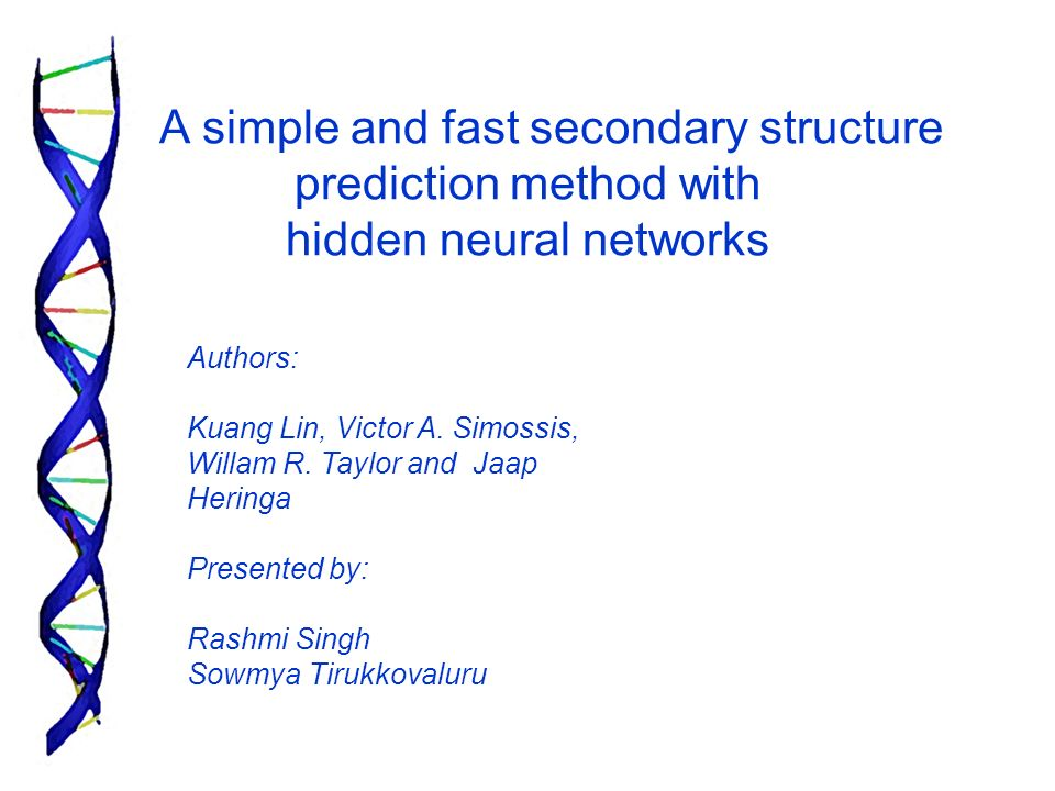 A simple and fast secondary structure prediction method with