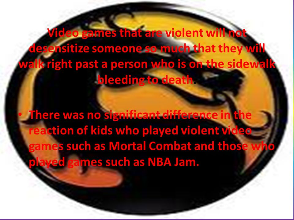 do violent video games desensitize