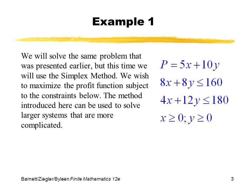 Linear programming 1.